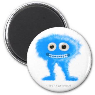 Blue Leggy Critter 6 Cm Round Magnet
