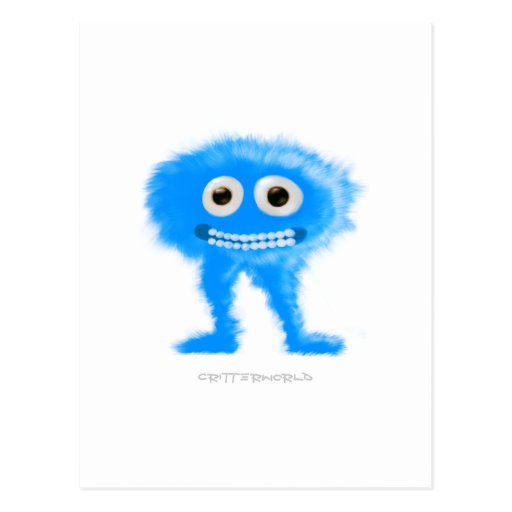Blue Leggy Critter Postcards