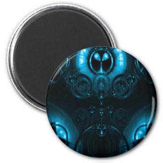 Blue Lens Flare 6 Cm Round Magnet