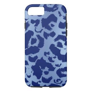 Blue Leopard Jaguar Print Dark Light Gradient iPhone 7 Case