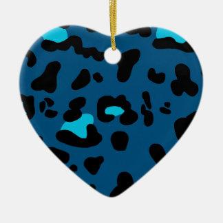 Blue Leopard Print Christmas Ornament