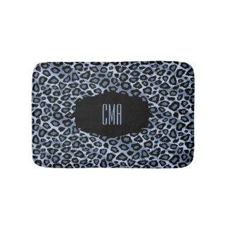 Blue Leopard Print | DIY Monogram Bath Mats