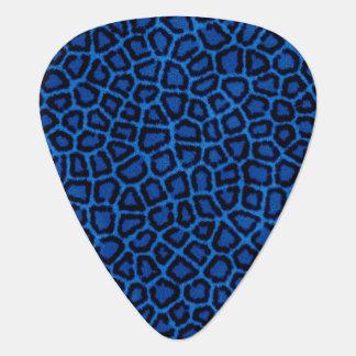 Blue Leopard Print Guitar Pick