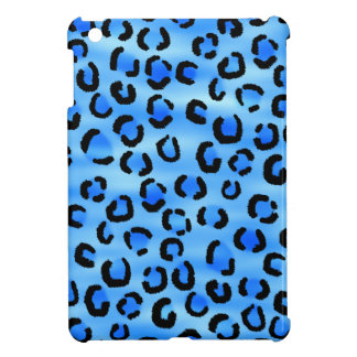 Blue Leopard Print Pattern. iPad Mini Cover