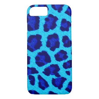 Blue Leopard Print Phone Case