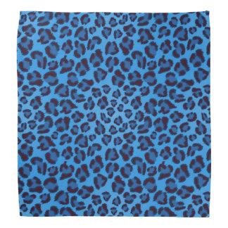 blue leopard texture pattern bandana