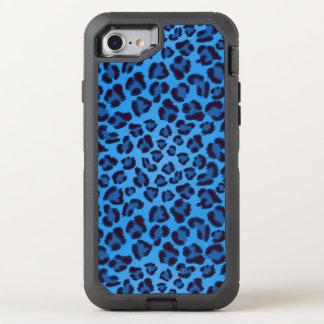 blue leopard texture pattern OtterBox defender iPhone 8/7 case