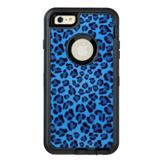 blue leopard texture pattern OtterBox iPhone 6/6s plus case