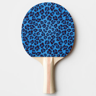 blue leopard texture pattern ping pong paddle