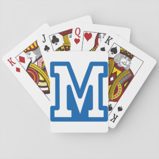 Blue Letter M Playing Cards