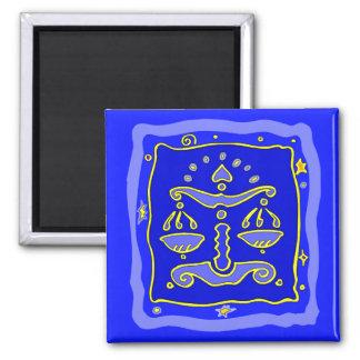 Blue Libra Square Magnet