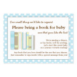 Blue Library Baby Shower Book Insert Request Card Pack Of Chubby Business Cards