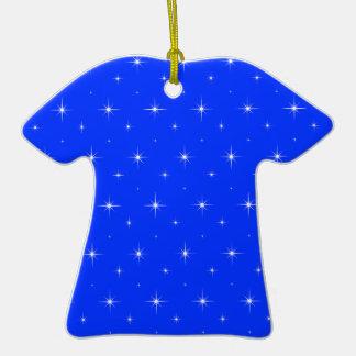 Blue-Light-And-Bright-Stars-Elegant-Pattern Christmas Ornaments