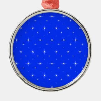Blue-Light-And-Bright-Stars-Elegant-Pattern Christmas Tree Ornaments