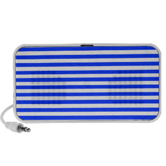 Blue Light And White Horizontal Stripes Pattern Travelling Speakers