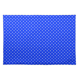 Blue-Light And-White-Polka-Dots Placemat
