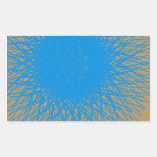 blue light aqua 7 rectangular sticker