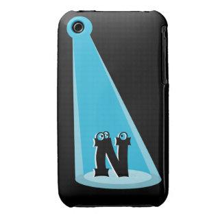 Blue Light Beam Monogram iPhone 3 Cases