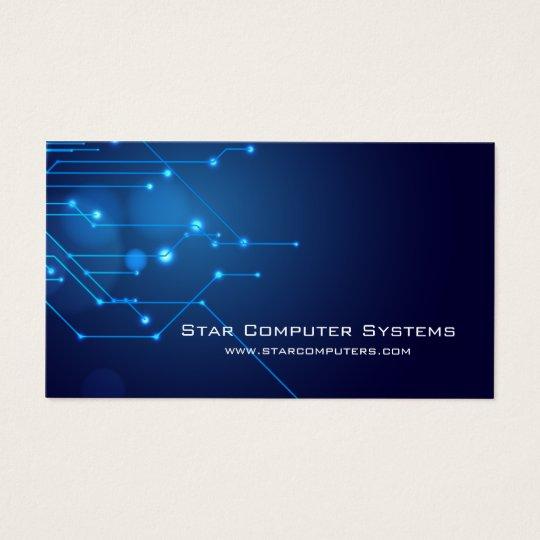 Blue Light Circuits3 Computer Repair Business Card