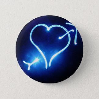 Blue Light Heart Button