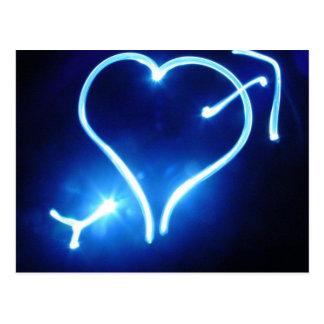 Blue Light Heart  Postcard