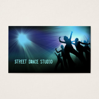 Blue Light Street Dance Studio Business Card