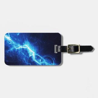Blue Lightning Bag Tag