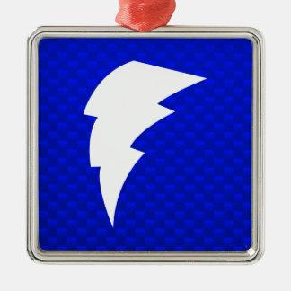 Blue Lightning Bolt Christmas Ornament