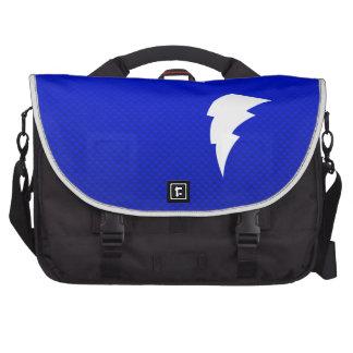 Blue Lightning Bolt Laptop Commuter Bag