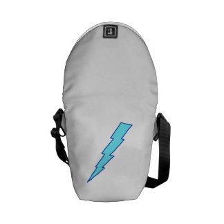 Blue Lightning Bolt Messenger Bags