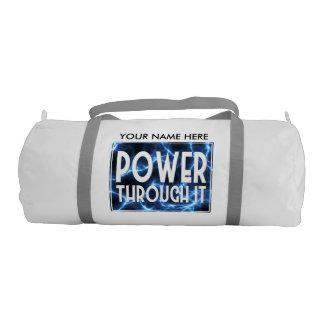 Blue Lightning-Power Through It Gym Duffel Bag