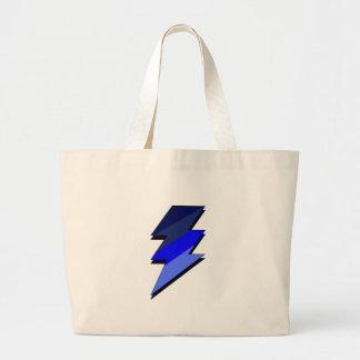 Blue Lightning Thunder Bolt Bag