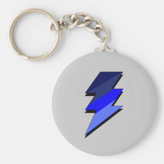 Blue Lightning Thunder Bolt Key Ring
