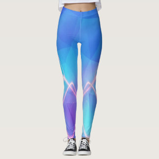Blue lights leggings