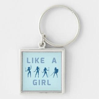 Blue Like a Girl Keychain