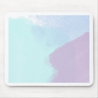 Blue lilac watercolour mouse pad