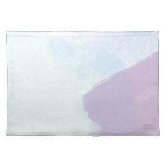 Blue lilac watercolour placemat