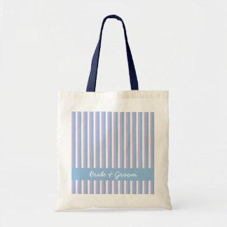 Blue Lilac White Stripes blue Wedding Bag