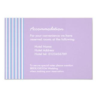 Blue Lilac White Stripes lilac Wedding Enclosure 9 Cm X 13 Cm Invitation Card