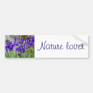 Blue Lilies Bumper Stickers