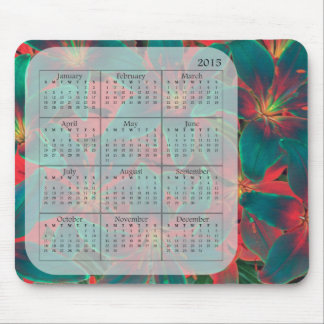 Blue Lilies Mousepad 2015 Calendar