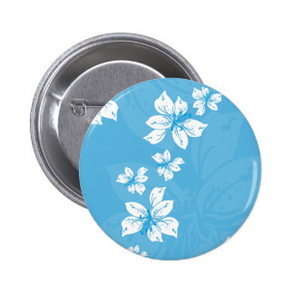 Blue Lilly Pattern Button