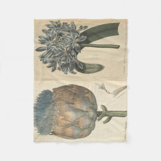 Blue Lily & Artichoke Fleece Blanket