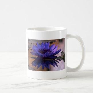 Blue Lily Basic White Mug