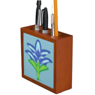 Blue Lily Pencil Holder