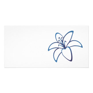 Blue Lily Photo Card Template