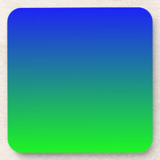 Blue Lime Gradient Beverage Coasters