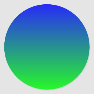 Blue Lime Gradient Classic Round Sticker