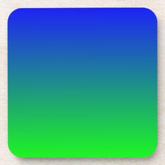 Blue Lime Gradient Coaster