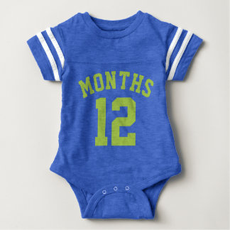 Blue & Lime Green Baby | Sports Jersey Design Tshirt